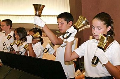 Church handbell choir